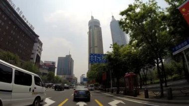 Driving Pudong District — Stock Video