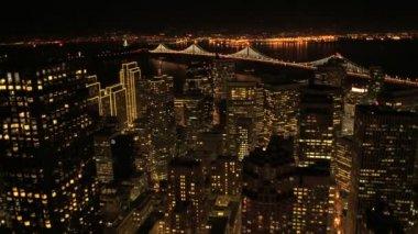 Oakland Bridge bay area — Stock Video