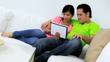 Couple seeing good news on tablet — Stock Video