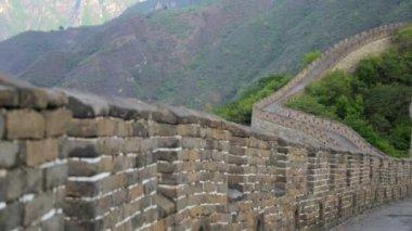 великая китайская стена — Стоковое видео