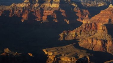 Grand Canyon National Park panning cliffs sunrise shadow, Arizona, USA — Stock Video
