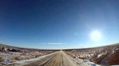 Road trip through scenic landscape — Stock Video