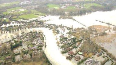Flooding of property Southwest England, UK — Stock Video