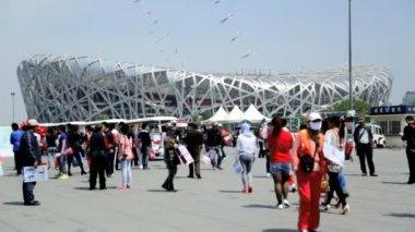 Birds Nest Beijing National Stadium — Stock Video