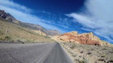 Road trip through desert landscape — Stock Video
