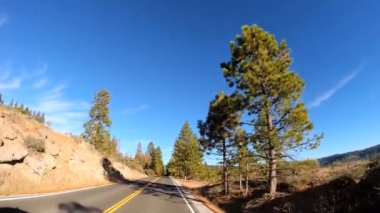 Road trip through Sonora Pass — Stock Video