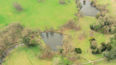 Riverside flooding, Surrey, England — Stock Video