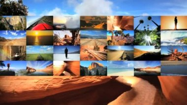 Video montage of famous travel destination — Stock Video