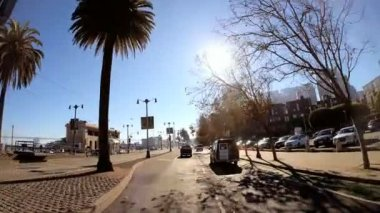 Driving on Embarcadero Wharf area — Stockvideo