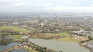 Rising floodwater, Southwest England, UK — Stock Video