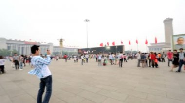 Tiananmen Square Monument to the People's Heroes Beijing — Stock Video