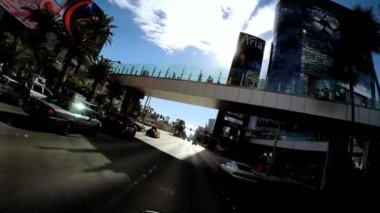 Drive illuminated Las Vegas Blvd — Stock Video