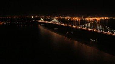 Interstate 80 Oakland Bay Bridge — Stock Video