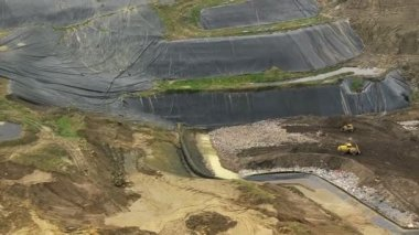 Refuse land fill site, Southwest England, UK — Stock Video