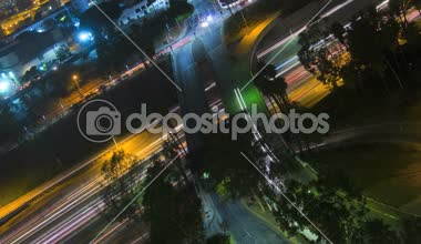 Los Angeles commuter elevated traffic illuminated Highway California USA — Vídeo de Stock