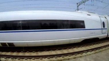 Shanghai train in motion — Vídeo de stock