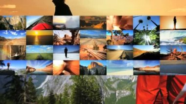 Video montage of travel destination — Stock Video