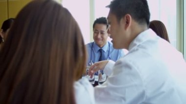 Meeting Ethnic Medical Consultants — Stock Video