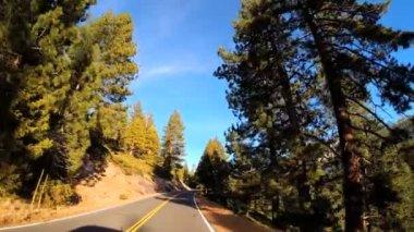 Driving through Sonora mountain Pass — ストックビデオ