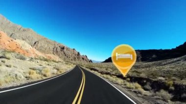 Driving Highway Nevada Desert — Stock Video