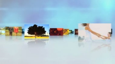 CG montage fly through Caucasian baby family happiness life motion graphics — Stock Video