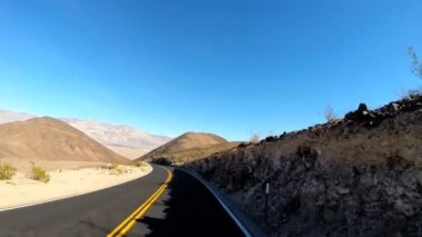 Driving on Death Valley Highway — Stock Video