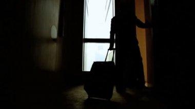Businessman enters the luxury penthouse — ストックビデオ