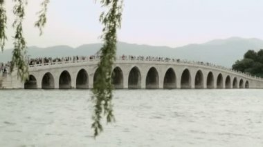17 Arch Bridge Summer Palace — Stock Video