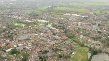 Flooding environmental disaster, Thames Valley, UK — Stock Video