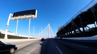Road trip across New Bay Bridge — Stock Video