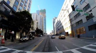 Driving traffic San Francisco — Stock Video