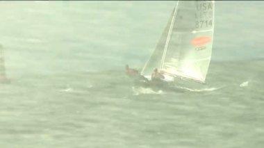 Sailboat Regatta Yachting Dinghy Racing — Stock Video