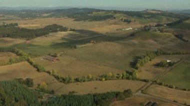 Oregon tarımsal alan ekilebilir tarım arazileri — Stok video