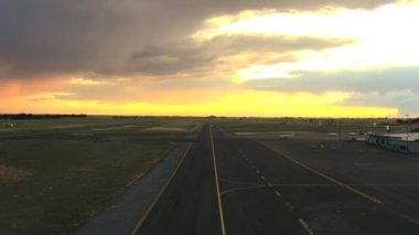 Aerial Idaho USA airport business runway travel — Stock Video