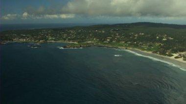 Aerial Pebble Beach coastline Monterey California USA — Stock Video