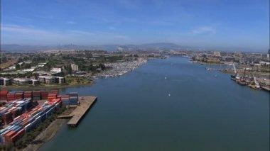 California Oakland Port San Francisco — Stock Video