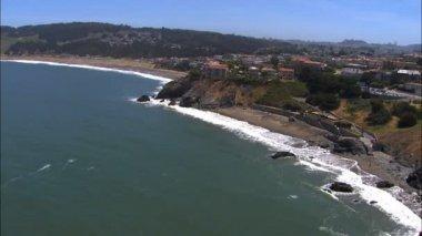 California Bay Pacific ocean coastline — Stock Video