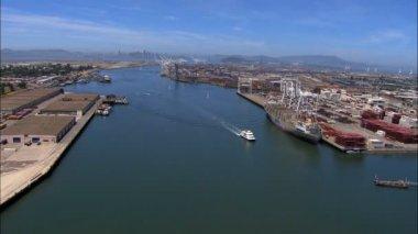 Aerial Oakland Port San Francisco — Stock Video