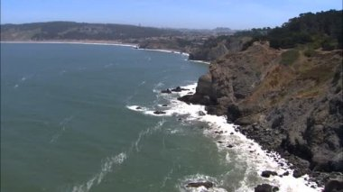 California Bay Pacific ocean coastline — Stock Video
