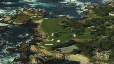Aerial Cypress Point Golf Course Monterey California USA — Stock Video