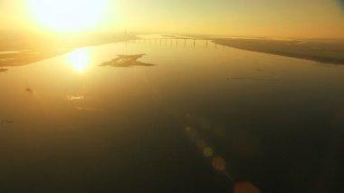 San Francisco Bay sunset river Pacific ocean wetlands — Stock Video
