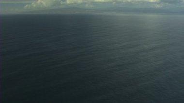 Aerial USA sea nature Seascape cloud climate tropical — Stock Video