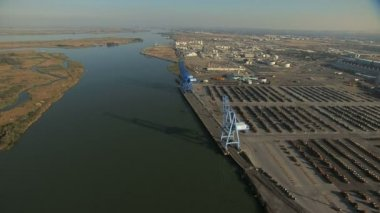 Aerial Port Oakland San Francisco — Stock video