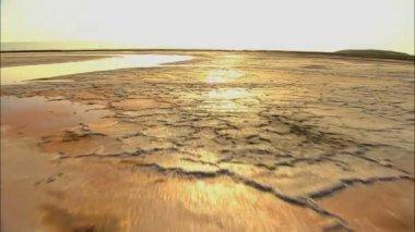 California ocean coastline Salt Ponds — Stock Video