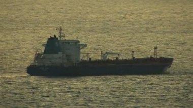 San Francisco Pacific ocean freight ship — Stock Video