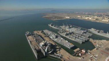 Hornet Museum Navy ships Memorial — Stock Video