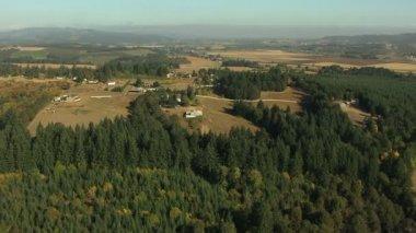 Oregon crops farm valley industry — Stock Video