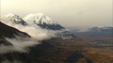Aerial Alaskan Mountain Range — Stock Video