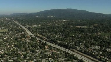 California Santa Cruz commuter Freeway transport — Stock Video
