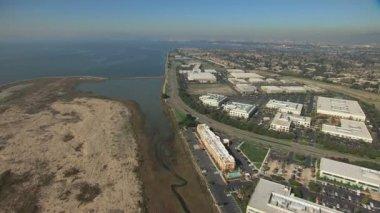 Aerial Oakland Airport Alameda San Francisco USA — Vídeo de stock
